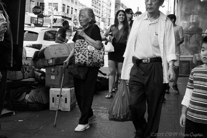 Sunday afternoon shopping in Chinatown, NYC