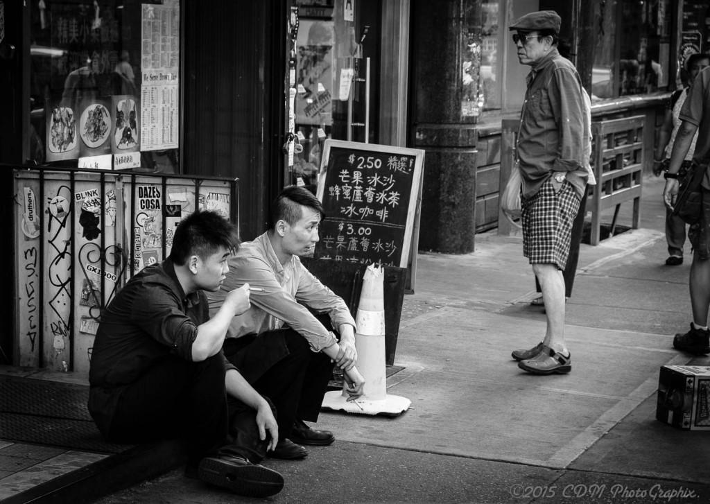 Sidewalk, Chinatown...