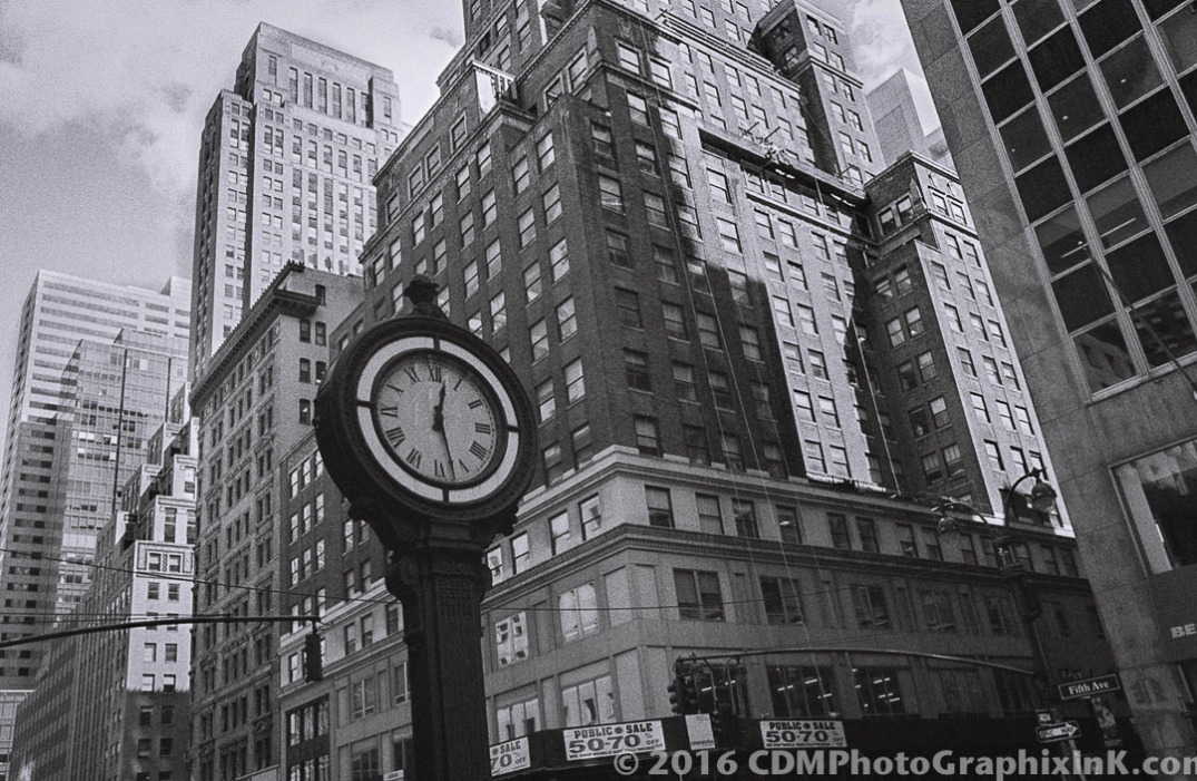 Fifth Ave. Clock, NYC